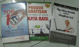 Buku-buku yang pernah aku tulis dan berhasil diterbitkan