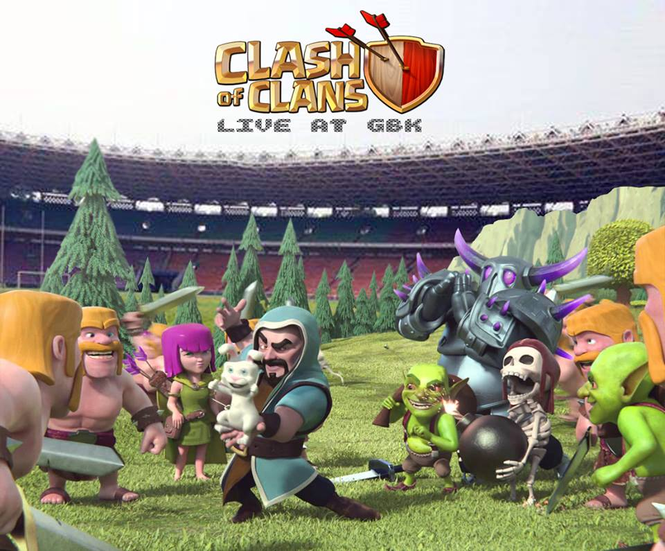Karena sepi ya udah dipakai main Clash of Clans live ajaa by: https://www.facebook.com/Brindil.ganteng