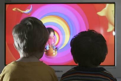 Anak-anak nonton televisi